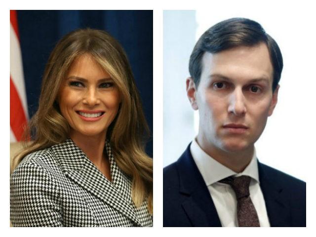 Melania Trump/Jared Kushner collage