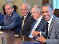 Menendez, Corker, Reid, Obama MANDEL NGANAFPGetty Images