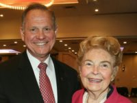 Former Alabama Supreme Court Chief Justice Roy Moore and Phyllis Schafly in 2015