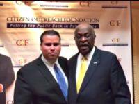 Omar Navarro and Herman Cain