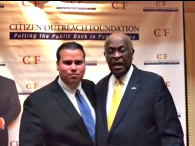 Omar Navarro and Herman Cain