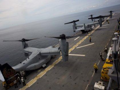 Osprey on board USS Kearsarge