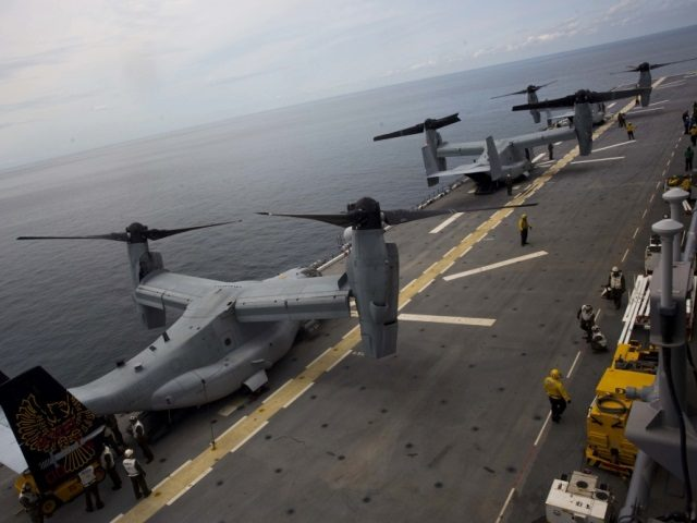 Osprey on board USS Kearsarge