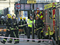 Members of the emergency services work outside Parsons Green underground tube station in west London on September 15, 2017, following an incident on an underground tube carriage at the station. Police and ambulance services said they were responding to an 'incident' at Parsons Green underground station in west London on …
