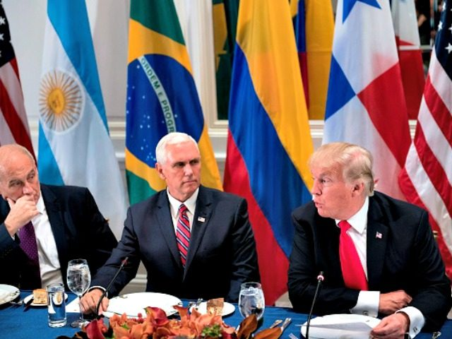 Pence, UN with Kelly, Trump BRENDAN SMIALOWSKIAFPGetty Images