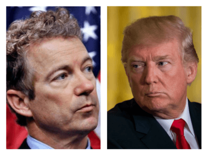 Rand Paul and President Trump collage