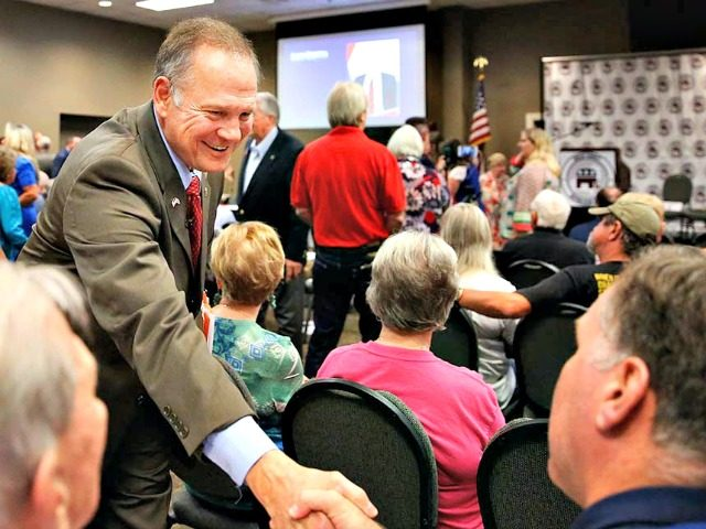 Roy Moore shakes hands
