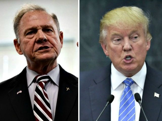 President Donald Trump restated his support for Roy Moore, the besieged Republican Senate candidate for the senate seat in Alabama.