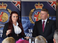 The leaders of far-right group Britain First, Paul Golding and his deputy Jayda Fransen.