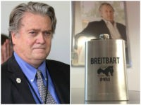 Steve Bannon Honey Badger Breitbart Flask