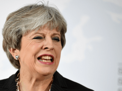 British Prime Minister Theresa May gives her landmark Brexit speech in Complesso Santa Maria Novella on September 22, 2017 in Florence, Italy. She outlined the UK's proposals to the EU in an attempt to break a deadlock ahead of the fourth round of negotiations that begin on Monday. Florence is …