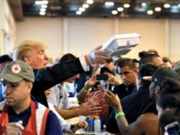Trump Holds Meal Houston