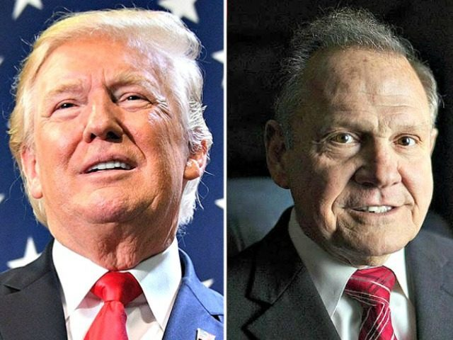 President Donald Trump delivered his closing argument on Tuesday for why Alabama voters should vote for besieged Republican Senate Candidate Roy Moore.