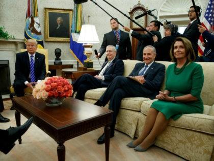 Trump, Pelosi, Schumer, McConnell--debt deal