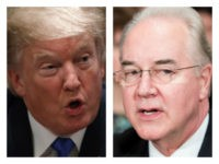 Trump and Tom Price--collage