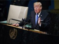 President Trump addresses the United Nations on September 19, 2017.