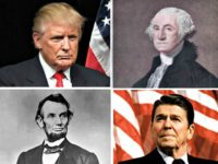 Trump, Washington, Reagan, Lincoln