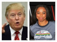 Trump and Jemele Hill collage