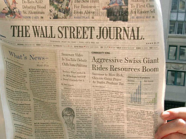 Wall Street Journal Closes International Print Editions