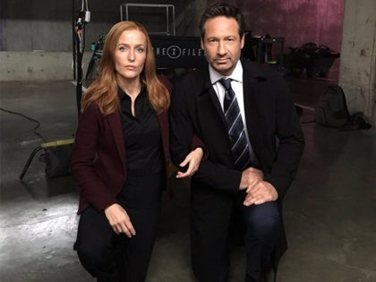 'X-Files' Stars David Duchovny, Gillian Anderson Take a Knee on Set