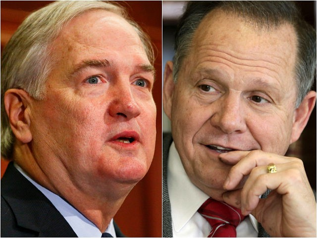 Luther Strange and Roy Moore