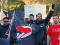 SALT LAKE CITY, UT - SEPTEMBER 27: ANTIFA protesters demonstrate on the University of Utah campus against an event where right wing writer and commentator Ben Shapiro is speaking on September 27, 2017 in Salt Lake City, Utah. Campus authorities have increased security ahead of the appearance by Shapiro, a …