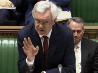 "Britain's Brexit Secretary David Davis speaks in the House of Commons, London, Monday, March 13, 2017. Britain's top official for leaving the European Union says lawmakers should pass an EU exit bill ""without further delay"" so the government can start formal divorce talks with the bloc. Brexit Secretary David Davis …"