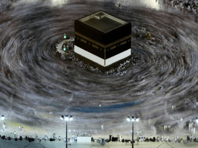 Muslim pilgrims circumambulate the Kaaba, Islam's holiest shrine, at the centre of the Grand Mosque in Saudi Arabia's holy city of Mecca on August 27, 2017