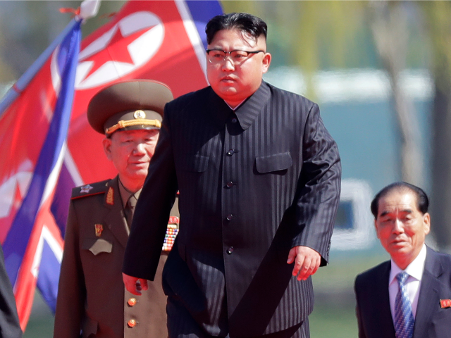 In this April 13, 2017 file photo, North Korean leader Kim Jong Un, center, arrives for the official opening of the Ryomyong residential area, in Pyongyang, North Korea. South Korea's military says North Korea is believed to have conducted its sixth nuclear test. South Korea's military said Sunday, Sept. 3, 2017, that North Korea is believed to have conducted its sixth nuclear test after it detected a strong earthquake, hours after Pyongyang claimed that its leader has inspected a hydrogen bomb meant for a new intercontinental ballistic missile. (AP Photo/Wong Maye-E, File)
