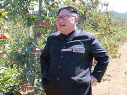 This undated picture released from North Korea's official Korean Central News Agency (KCNA) on September 21, 2017 shows North Korean leader Kim Jong-Un visiting a fruit farm at Kwail-?p County, South Hwanghae Province. / AFP PHOTO / KCNA VIS KNS AND AFP PHOTO / STR / South Korea OUT / …