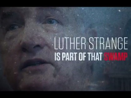 Still from an attack ad targeting Alabama senator Luther Strange.