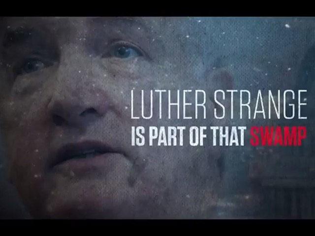 Still from an attack ad targeting Alabama senator Luther Strange.