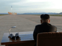 This undated picture released from North Korea's official Korean Central News Agency (KCNA) on September 16, 2017 shows North Korean leader Kim Jong-Un inspecting a launching drill of the medium-and-long range strategic ballistic rocket Hwasong-12