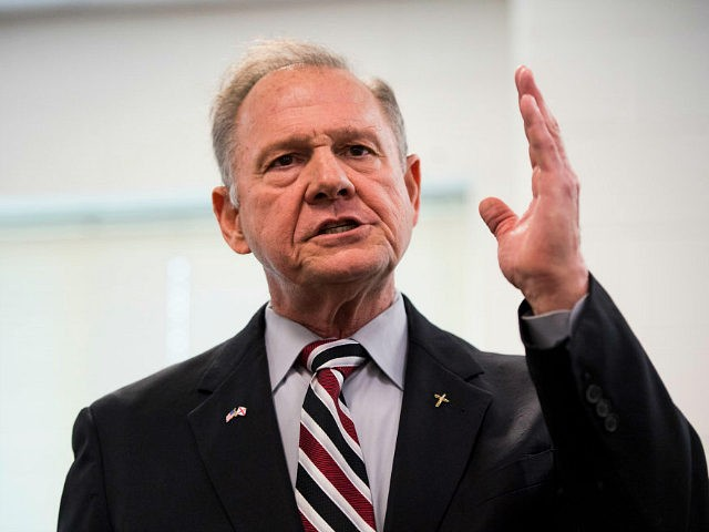 UNITED STATES - AUGUST 3: GOP candidate for U.S. Senate Roy Moore speaks during a candidates' forum in Valley, Ala., on Thursday, Aug. 3, 2017. The former Chief Justice of the Alabama Supreme Court is running in the special election to fill the seat vacated by Attorney General Jeff Sessions. …