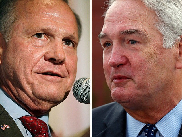 Roy Moore and Luther Strange, candidates for the Alabama special election to fill the U.S. Senate seat of now-Attorney General Jeff Sessions.