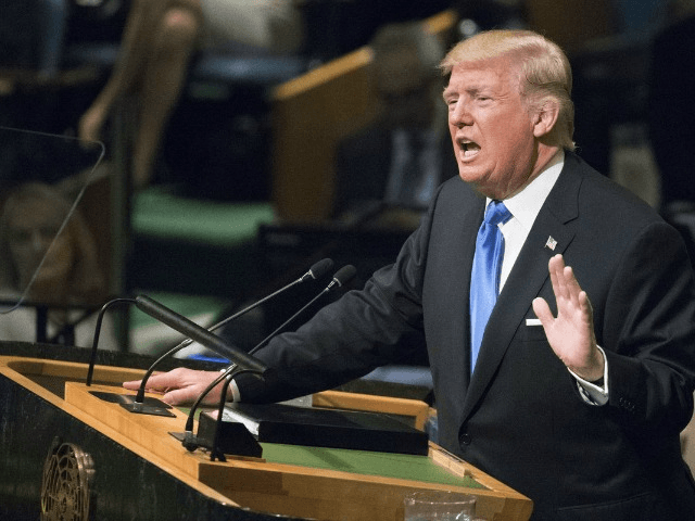 Donald Trump at UN (Mary Altaffer / Associated Press)