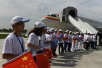 There was much fanfare as Airbus delivered its first long-haul A330 from the Tianjin completion centre to Tianjin Airlines