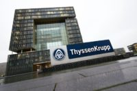 German heavy industry giant ThyssenKrupp (headquarters pictured in Essen) and Indian group Tata have agreed to merge their steel operations in Europe