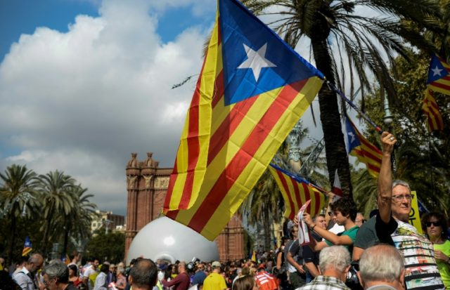 Thousands of people have flooded onto the streets of Barcelona for the last two days, many waving Esteladas, the red, blue and yellow flag cherished by those who want independence in Catalonia