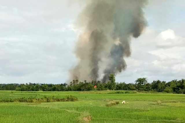 Villages were torched in the chaotic aftermath of Myanmar's crackdown on Rohingya militants