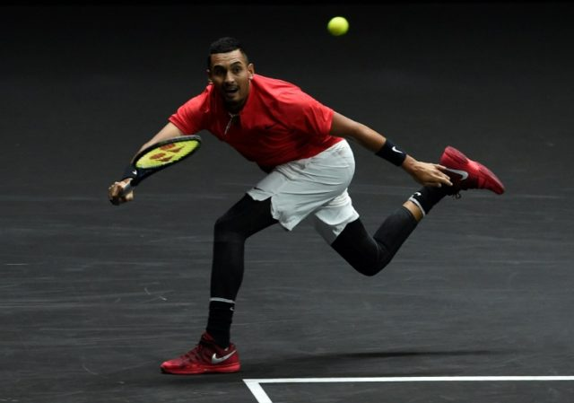 Australian Nick Kyrgios said he kneels before matches to remember the deaths of his grandparents