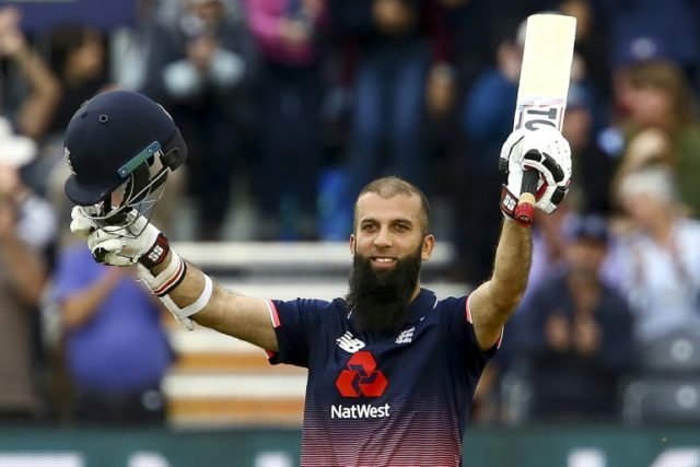 England's Moeen Ali sprinted to his hundred off 53 balls, with nearly half of his runs coming via eight sixes