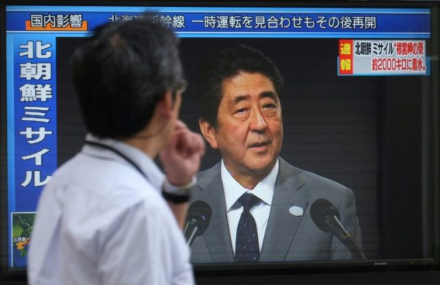 Polls suggest voters approve of Japanese Prime Minister Shinzo Abe's tough line on North Korea