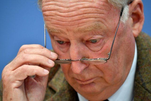 AfD number two Alexander Gauland, pictured on September 25, 2017 in Berlin, has said German Jews have nothing to fear