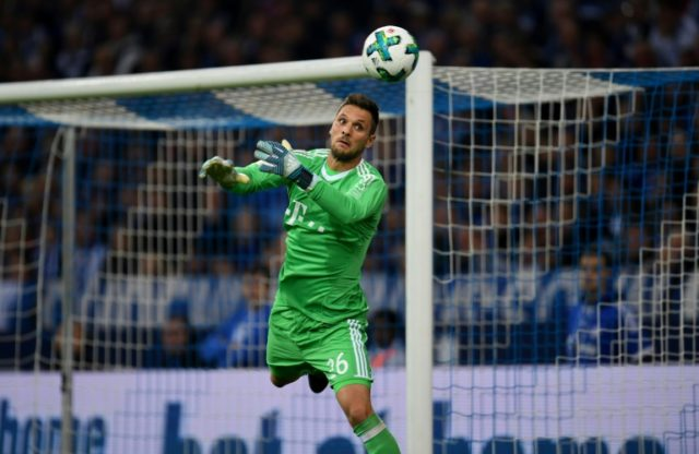 Bayern Munich's goalkeeper Sven Ulreich, seen in action during a German First division Bundesliga match in Gelsenkirchen, on September 19, 2017