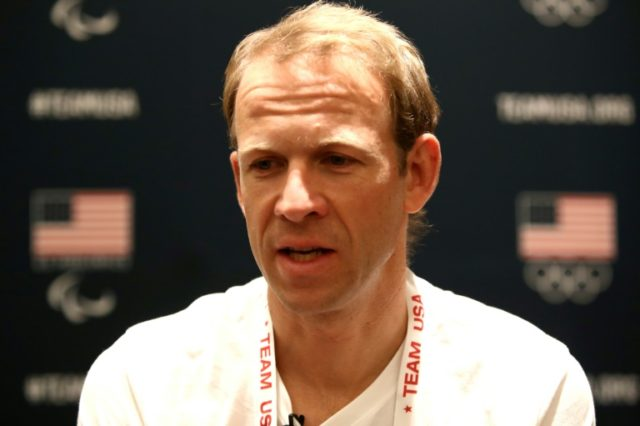 Biathlete Lowell Bailey addresses the media during the Team USA Media Summit ahead of the PyeongChang 2018 Olympic Winter Games on September 25, 2017 in Park City, Utah