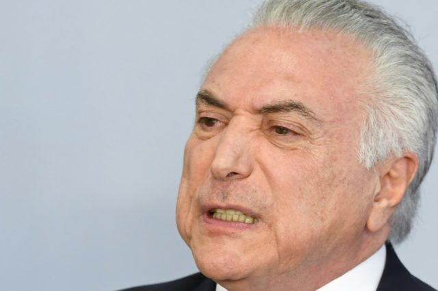 Brazilian President Michel Temer rejects graft charges against him