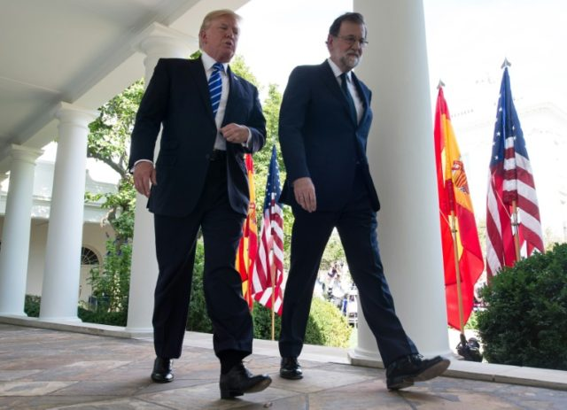 US President Donald Trump joined Spanish Prime Minister Mariano Rajoy for a White House press conference at which he urged the European Union to impose sanctions on Venezuela