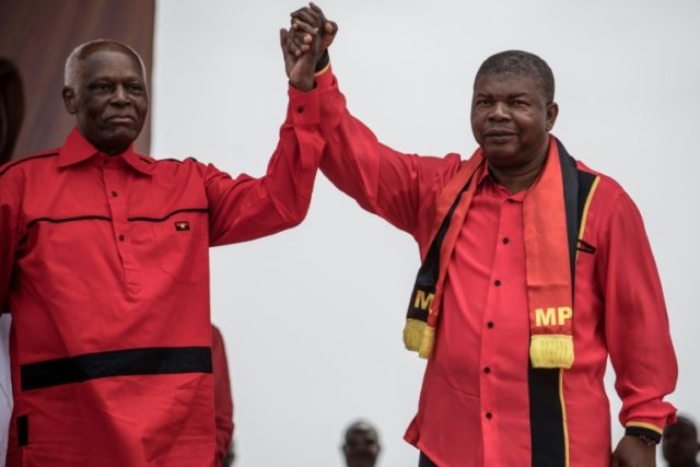 Angolan President Jose Eduardo dos Santos (L) handed over power to Joao Lourenco (R) after 38 years in power