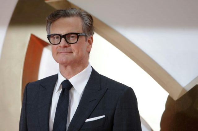 "British film veteran Colin Firth poses at the premier of ""Kingsman: The Golden Circle"", which topped the box office over the weekend"